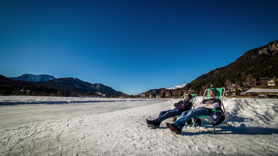 Relaxing at Weissensee